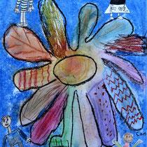 Collage Pastell und Papier