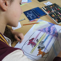 Zeichnen nach Literatur.....inspiriert durch Rainer Maria Rilkes Gedicht DAS KARUSSEL
