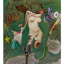Raúl Herrera. Acrílico y lapices sobre papel. 50 x 70 cm. 2011.