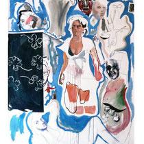 Raúl Herrera. Mixed media on canvas. 210 x 162 cm. 2012.