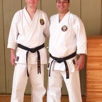 mit Anthony Gibson Sensei aus Kanada (bei seinem Zwischenstopp in Richtung Okinawa)