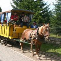 Pferdeeisenbahn in Kerschbaum / Mühlviertel, OÖ.