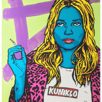 Smoking Kate | acrylic on canvas | 140x180 cm | 55x71 inches