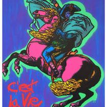 C'est la Vie | acrylic & spraypaint on canvas  | 130x150 cm | 51x59 inches
