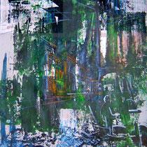 Berlin, Lack, Acryl auf Papier, 133 x 87 cm