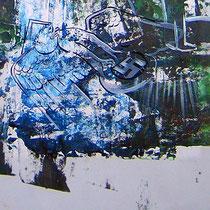 Berlin (Ausschnitt), Lack, Acryl auf Papier, 133 x 87 cm