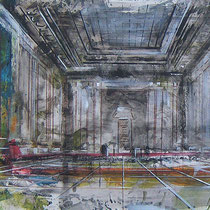 Festsaal Berlin, Acryl, Aquarell, Pastell auf Karton, 50 x 61 cm