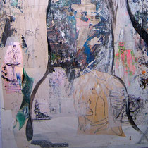 Turin (Ausschnitt), Mixed Media, 150 x 65 cm