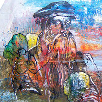 Guti-Gutti-Brainstorming (Ausschnitt), Lack, Acryl auf Pappmaché, ca. 120 x 60 cm