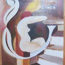 Akt, Acryl auf Leinwand, 60 x 80 cm