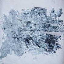O.T. (Ausschnitt), Lack auf Papier 87 x 133 cm