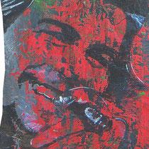 Muammar & Che (Ausschnitt),  Lack auf Pappmaché, ca. 130 x 60 cm