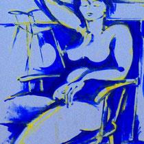 Blue lady, Acryl auf Leinwand, 40 x 50 cm