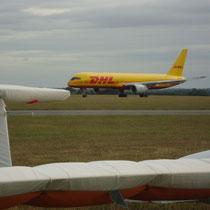 Lasham ist Stützpunkt für die Wartung von Boeing Airlinern. Foto: Auer