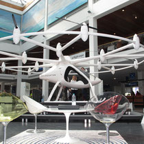 Elektrisch in die Zukunft, Teil 2. Der Volocopter - bemannt, ein spannendes Projekt. Foto: jkob