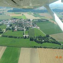 In der Cessna 172 bei Schönbrunn. Foto: Marske