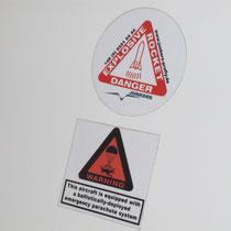 Eurofox, Markierung Ausschussöffnung des Rettungsfallsschirm.