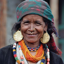 Frau in Sikkim, Nepal