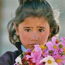 Mädchen in Ladakh, Indien