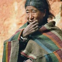 Frau in Mustang, Nepal