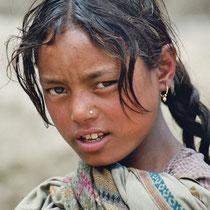 Mädchen in Tibet