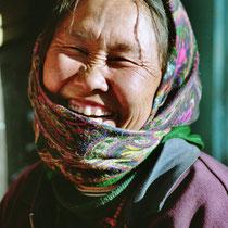 Marktfrau in Leh, Indien