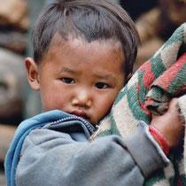 Junge in Tibet