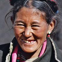 Frau in Tibet