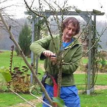 Beni schneidet mir die Obstbäume fachgerecht