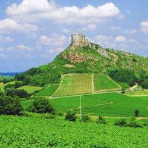 Der Felsen von Solutré - ein lohnenswerter Besuch, gleich hinter Mâcon