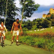 Die Bresse ist recht flach - ideal für ausgedehnte Fahrradtouren