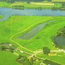 Mündung der Seille in die Saône