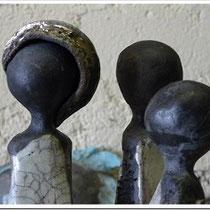 Raku-Keramik - möglich bei Erika Neuffer, Louhans