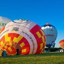 """Immer an Pfingsten finden in Chalon-sur-Saône das Ballonflugfestival """"Les Montgolfiades"""" statt"""