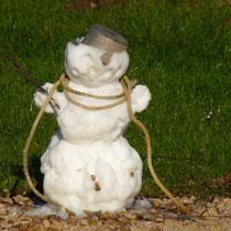 Mein Neujahrsgäste haben einen supersüssen Schneemann gebaut