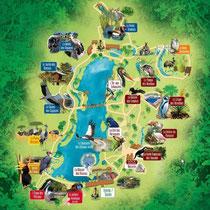 Le Parc des Oiseaux in Villars-les-Dombes - 7 Rundgänge bieten sich an