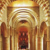 Das Hauptschiff der Kirche