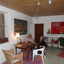 Angela und ich in der Veranda (von Beni fotografiert)