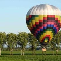 Ballonflüge über die Weinberge des Burgunds oder die Bresse