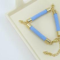 """Bracelet """"Elisa"""", bleu agate. 49 euros"""
