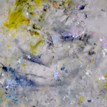 """numéro 15 (""""les témoins"""" series), oil on cotton, 60 x 40 cm, 2015"""
