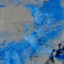 """numéro 13 (""""les témoins"""" series), oil on cotton, 10 x 20 cm, 2015"""