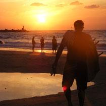 Sonnenuntergang am Strand von Jaffa
