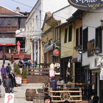 Altstadt von Skopje (Mazedonien): Der osmanische Einfluss auf die Stadt ist deutlich sichtbar.