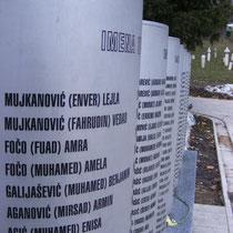 Gedenkstelle für die vielen Kinder, die während der Belagerung 1992-1996 ihr Leben verloren.