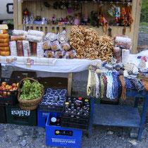 Marktstand am Lac Balea