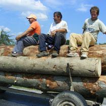 Holzarbeiter in den Karpaten