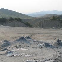 Die Schlammvulkane von Berca in Zentralrumänien