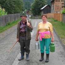 Bauern in der Bukowina.