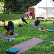 Open Air Yoga mit Sabrina Steinberger.